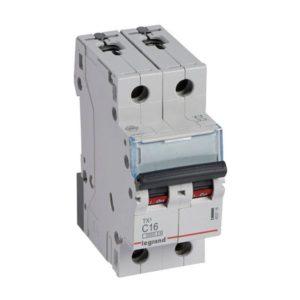 Disjoncteurs -Disjoncteur TX³ 3kA 2P C16 230/400V - 2 modules
