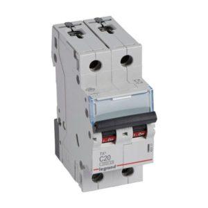 Disjoncteurs -Disjoncteur TX³ 3kA 2P C20 230/400V - 2 modules