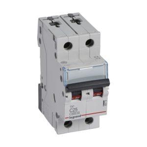Disjoncteurs -Disjoncteur TX³ 3kA 2P C25 230/400V - 2 modules