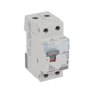 Protection différentielle -Interrupteur différentiel TX³ 2P 30mA 40A Type A - 2 modules