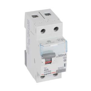 Protection différentielle -Interrupteur différentiel TX³ 2P 300mA 40A Type A - 2 modules