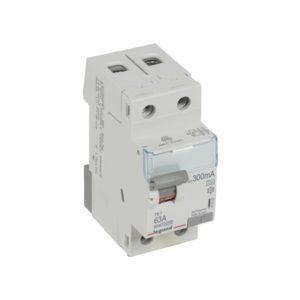 Protection différentielle -Interrupteur différentiel TX³ 2P 300mA 63A Type A - 2 modules