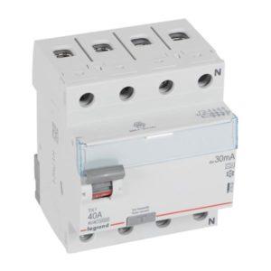 Protection différentielle -Interrupteur différentiel TX³ 4P 30mA 40A Type A - 4 modules