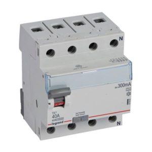 Protection différentielle -Interrupteur différentiel TX³ 4P 300mA 40A Type A - 4 modules