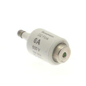 Fusibles & accessoires -Cartouche fusible, Basse tension, 6 A, AC 500 V, D2, gR, IEC, à action rapide