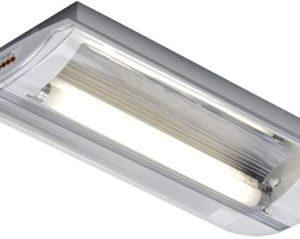 Éclairage de sécurité -Horizon plafonnier apparent TL décentrale batt. ind. 1x8W 4000K 120lm IP40 blanc