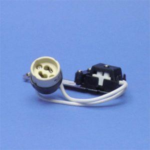Accessoires -Kit d'utilisation d'une lampe halogène 230V+bornier de raccordement+douille GU1