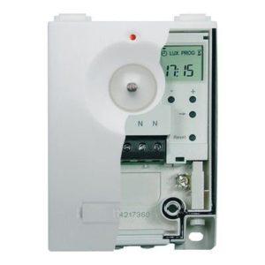 Gestion d'éclairage -Interrupteur crépusculaire avec horloge 230V 50HZ 2-200LUX 1NO 16A