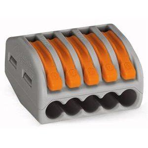 Bornes -Borne pour boîte de dérivation borne à 5 conducteurs avec levier de manipulatio
