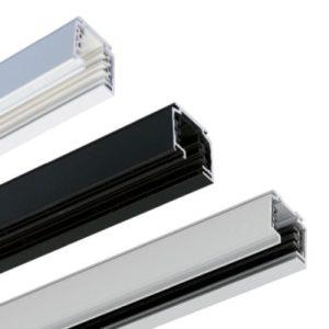 Éclairage interieur -Rail conducteur triphasé apparent L1000mm noir