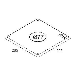 Accessoires -Plasterkit 101 205x205 trou ø77