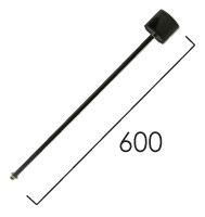 Éclairage interieur -Tige de suspension avec rosette 600mm noir