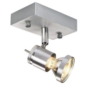 Éclairage interieur -Asto 1 spot mur/plafond GU10 50W 230V alu brossé