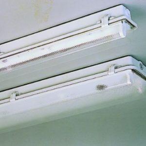 Luminaire étanche -Luminaire étanche type fermé méthacrylate 2x18W VVG IP65 clips plastique