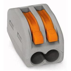 Bornes -Borne pour boîte de dérivation borne à 2 conducteurs avec levier de manipulatio