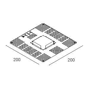 Accessoires -Plasterkit 161 200x200 trou 75x75