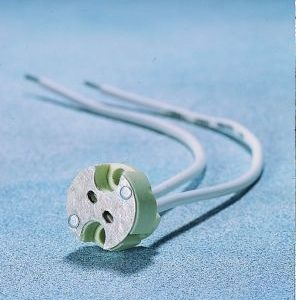 Accessoires -Douille universelle 12V G4-GY6,35-GU5,3 base en porcelaine ø17 fils 160mm