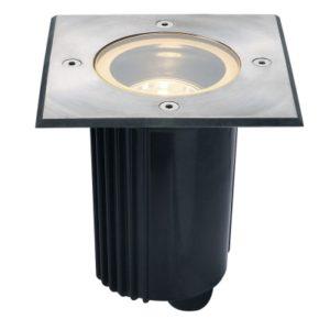 Éclairage extérieur -Spot encastré dans le sol outdoor DASAR80 QPAR51 IP67 carré acier inox316 35W