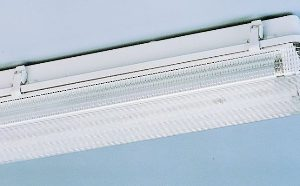 Luminaire étanche -Luminaire étanche type fermé polycarbonate 1x18W EVG IP65 clips plastique