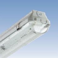 Luminaire étanche -Luminaire étanche type fermé polycarbonate 1x36W EVG IP65 clips inox