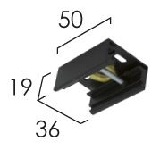 Éclairage interieur -Accessoire de fixation pour suspension par tige ou par cable argent