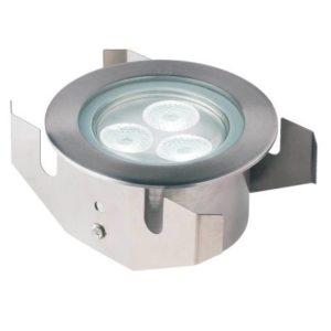 Éclairage extérieur -GL040 encastré de sol LED 20° 3W 3000K 160lm IP68 inox