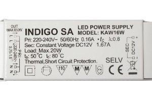 Accessoires -Driver LED 20W 12VDC 100-240Vac Précablé IP20
