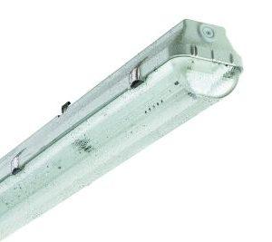 Luminaire étanche -Luminaire étanche type fermé polycarbonate 1xLED 1200mm IP65 clips inox