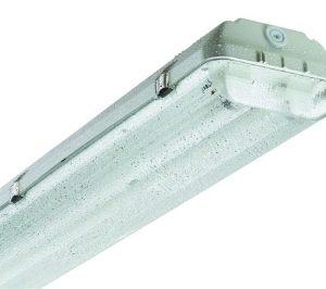 Luminaire étanche -Luminaire étanche type fermé polycarbonate 2xLED 1200mm IP65 clips inox