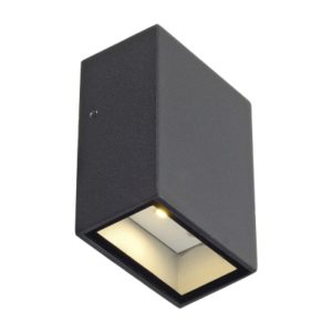 Éclairage interieur -QUAD 1 applique carree anthracite LED blanc chaud 1x3W