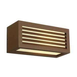 Éclairage interieur -BOX-L E27 applique rectangulaire FONTE ROUILLEE E27 max. 18W