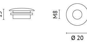 Accessoires -Raccord de montage M10 pour suspension sur cordon noir