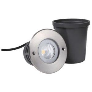 Éclairage extérieur -Helix 6 encastré de sol LED 25° 6W 3000K 550lm IP67 inox