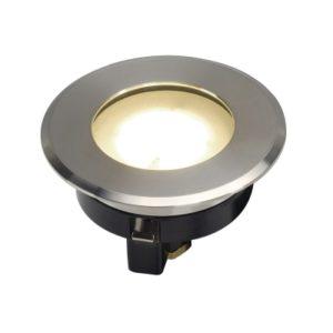 Éclairage extérieur -Dasar Flat LED 230V spot encastré en sol rond 4,3W 3000K 330lm D8cm inox brossé