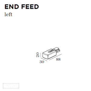 Accessoires -END FEED LEFT 30x88x20mm blanc
