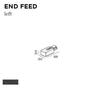 Accessoires -END FEED LEFT 30x88x20mm noir