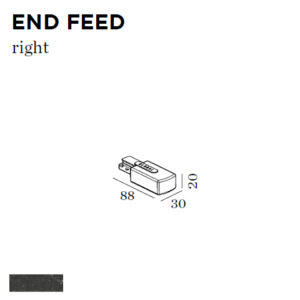 Accessoires -END FEET RIGHT 30x20x88mm noir