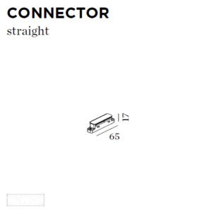Accessoires -CONNECTOR STRAIGHT 65x17x65mm blanc
