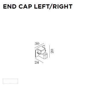 Accessoires -END CAP G41 24x20x30mm blanc