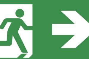 Éclairage de sécurité -Evago plaque perspex indication chemin de fuite droite