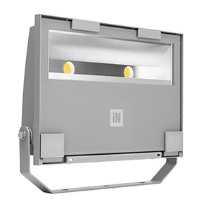 Éclairage extérieur -GUELL 2 Projecteur Asymétrique 40° Wide Beam 78W 4000K Gris