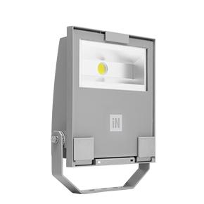 Éclairage extérieur -GUELL 1 Projecteur Symétrique Wide Beam 53W 4000K Gris
