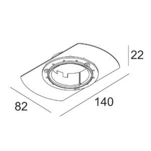Accessoires -MOUNTING KIT FLUSH SPY plafonnier encastré