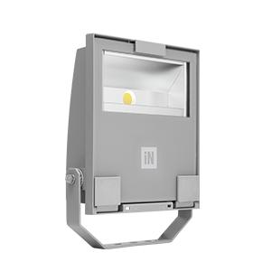 Éclairage extérieur -GUELL 1 Projecteur Asymétrique 40° Wide Beam 53W 4000K Gris