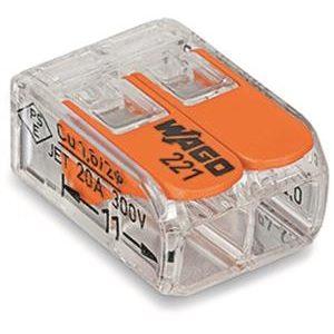 Cosses à sertir -Borne COMPACT UNIVERSELLE pour tout type de câbles 2 x 0,2-4mm²