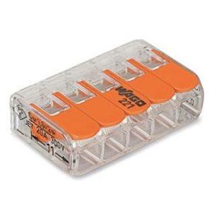 Cosses à sertir -Borne COMPACT UNIVERSELLE pour tout type de câbles 5 x 0,2-4mm²
