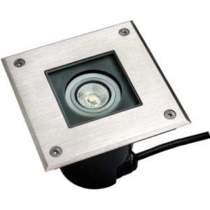 Éclairage extérieur -Horizon Square encastré de sol LED 5W GU10 460lm IP67 inox
