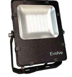 Éclairage extérieur -Projecteur LED Evolve SMD asymétrique 3000K 48W 4000Lm noir
