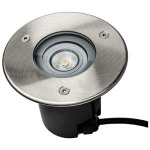 Éclairage extérieur -Horizon Round encastré de sol LED 5W GU10 3000K 460lm DIM IP67 inox