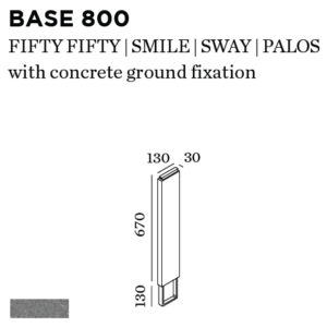 Éclairage extérieur -BASE 800 + CONCRETE GROUND FIX
